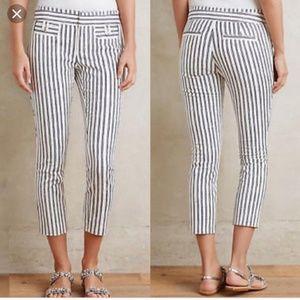 Anthropologie Cartonnier stripe cropped pant